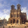 Cathédrale de Reims — Domenico Quaglio (1787 - 1837)