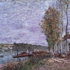 Overcast Day at Saint-Mammès (1880), Alfred Sisley