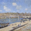 The Beach at Saint-Mammès (1884), Alfred Sisley (Saint Louis Art...
