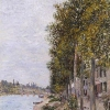 Road Along the Seine at Saint-Mammès (1880), Alfred Sisley (Dallas...